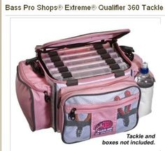 Bass Pro Shop Exclusive Pink Fishing Tackle Bag. (Boxes were included when bought instore) need to get  for nick!