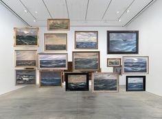Hans-Peter Feldmann Sea Paintings 15 oil paintings on linen, framed 117 x 214 1/2 inches (297.2 x 544.8 cm) HPF 436