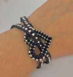 """Bracelet 🎀 (without instructions) · ☆ · 𝔤𝔢𝔣𝔲𝔫𝔡𝔢𝔫 𝔞 """". - Bracelet 🎀 (without instructions) · ☆ · 𝔤𝔢𝔣𝔲𝔫𝔡𝔢𝔫 𝔞𝔲ð … – - Seed Bead Bracelets, Seed Bead Jewelry, Bead Jewellery, Silver Bracelets, Jewelry Bracelets, Beaded Bracelet Patterns, Beading Patterns, Embroidery Bracelets, Bracelet Designs"""