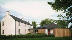 No. 34 - McAleenan NI House Renovation Ireland, Farmhouse Renovation, Modern Farmhouse Exterior, Farmhouse Design, Old Country Houses, Old Farm Houses, House Designs Ireland, Rural House, Ireland Homes