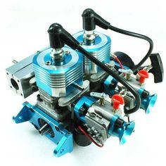 High Speed 52cc Gasoline Twin-engine - GH352 - Fuyuan R/C Model ...