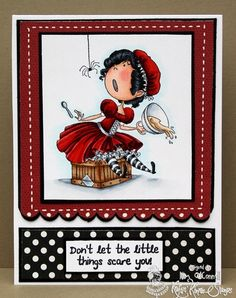 Little Miss Muffet from Kraftin' Kimmie Stamps  Design by Kim O'Connell  www.kraftinkimmiestamps.com