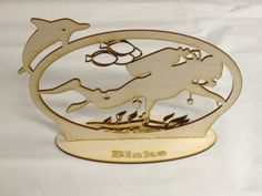Laser Cut Scuba Desk Ornament     $ 19.99 Laser Engraved Gifts, Corporate Awards, Client Gifts, Photography Gifts, Family Memories, Beautiful Gifts, Laser Engraving, Laser Cutting, Ornaments