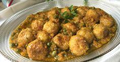 Albóndigas+de+pollo+con+verduras