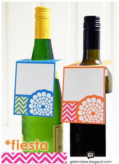 Fiesta Bottle Gift Tags and others  Free printable tags