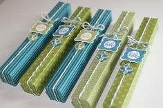 Kerstin Design. Pinning to remind me of this idea to gift wrap the DIY RSVP pen or duct tape pen ideas on pinterest.
