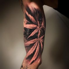 Find out Hot Marijuana tattoo ideas Forarm Tattoos, Chicano Tattoos, Dope Tattoos, Badass Tattoos, Body Art Tattoos, Tribal Tattoos, Sleeve Tattoos, Tattoos For Guys, Alien Tattoo
