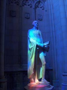 A statue of George Washington in the National Cathedral, Washington DC.