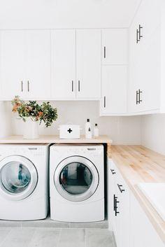 Vinyl Tile Sticker for Kitchen, Bathroom & Floors Agadir Grey – Quadrostyle Small Laundry, Laundry In Bathroom, Laundry Rooms, Laundry In Kitchen, Laundry Center, Bathroom Grey, Agadir, Laundry Room Organization, Laundry Room Design