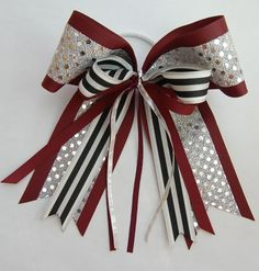 Glitz Cheerlaeder Hair Bow with Metallic Mini