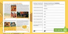 Great seasonal comprehension - Harvest Festivals Around the World Differentiated Reading Comprehension Activity