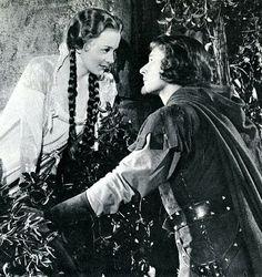 Olivia de Havilland & Errol Flynn in The Adventures of Robin Hood (1938)