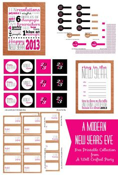 A Well-Crafted Party: {Free Printables} New Years' Eve Party Printables