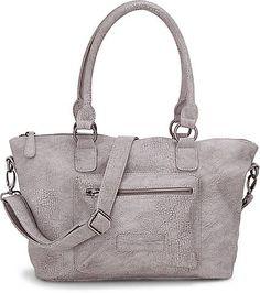 Im angesagten Vintage-Design lässt sich die Tasche von Fritzi aus Preußen zu unzähligen Looks kombinieren und strahlt aus einem komplett lederfreien Obermaterial in Grau.