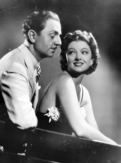 William Powell And Myrna Loy With Asta Thin Man Publicity Silver Halide Photo
