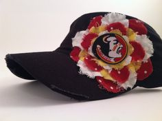 315526251 Ladies Florida State Seminoles fan hat by BrimmingwithJoy on Etsy