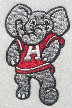Alabama Embroidery design CRIMSON TIDE Big AL
