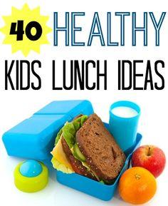 40 Kids Healthy Lunch Ideas. #blog #frugal #frugalliving http://www.mrsjanuary.com/