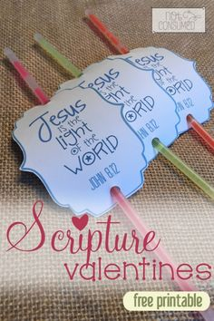 Looking for non-candy valentines? These simple and FREE scripture valentines are the perfect fit. Share God's love, keep the sugar at bay and do it all for $1.