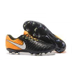 2017 Nike Tiempo Legend VII FG Botas De Futbol Naranja Negro