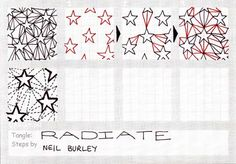 Radiate - tangle pattern