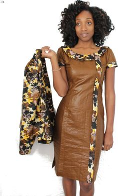 Awesome look for the office Short African Dresses, African Blouses, African Shirts, African Print Dresses, African Print Fashion, African Fashion Dresses, African Attire, African Wear, African Women