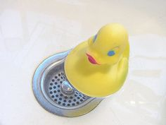Get your ducks in a ROW!  Vintage Rubber Duckie Collection ALL FOUR by ShantyIrishStockyard, $7.50