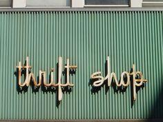 Thrift Shop sign.