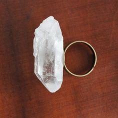 Clear Quartz Crystal Ring.wow.