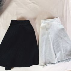 Skater Skirt bundle! ✨ Two of my favorite skater skirts just don't fit me anymore so I'm passing them on! The light wash skirt is from Forever 21 size S, the black one is a Joe B skirt which is a more stretchier material in medium. They both can fit S. If you would like to purchase individually, comment below. ( Each $11) Forever 21 Pants