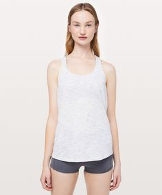 lululemon Women's Slay The Studio Tank Medium Support B/C Cup, Tiger Space Dye Hail White/Titanium, Size 2 Swag Outfits, Fashion Outfits, Fashion Clothes, Crop Tank, Tank Tops, Ladies Dress Design, Ladies Style, Girl Swag, Slay