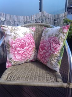 Matching cushions for the garden
