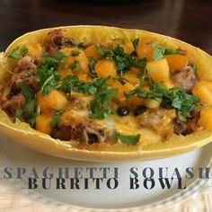 21 Day Fix and Country Heat spaghetti squash burrito bowls with container equivalents