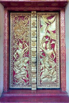 Temple Door in Bangkok, Bangkok, Thailand by Scott Holcomb