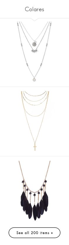 """""""Colares"""" by marymariamary ❤ liked on Polyvore featuring jewelry, necklaces, accessories - necklaces, gold tone jewelry, lucky brand jewelry, mixed metal jewellery, multi layer necklace, layered necklaces, accessories and gold"""