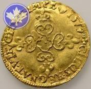 FRANCE-1574-1589-HENRI III -ECU OR -SUP-FDC      année: 1579     Métal: Or     poids: 3.38     conservation: 3.3) TB-TTB     nation: France     atelier: Rouen     valeur faciale: 1.00  €3.989,00