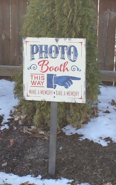 £20 PHOTO BOOTH Sign/Make a Memory/Take a Memory/Olde Time/Wedding Sign/Anniversary/Celebration/Great Shower Gift. $29.95, via Etsy.