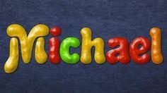 michael baby boy name. Cool font