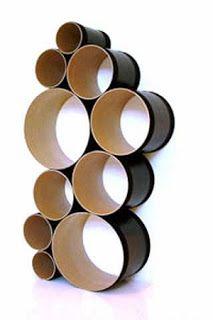 Ideas para Reciclar Tubos de Tela, Muebles y Accesorios Reciclados