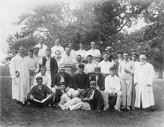 Montgomery Cricket team and their visitors in the late 19th century