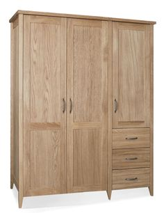 Windsor Triple Wardrobe with 3 Drawers from Queenstreet Carpets & Furnishings
