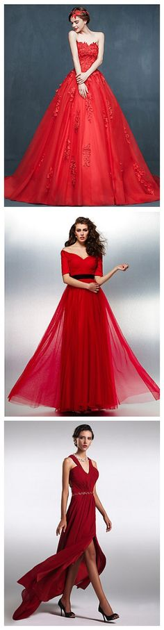 Stunning red evening dresses, if you are addicted to the color red, you will be amazed by the delicate details of these dresses.
