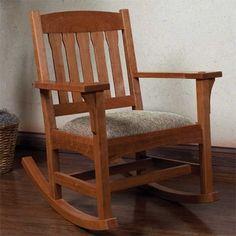 Arts & Crafts Rocker Woodworking Plan by Woodcraft Magazine