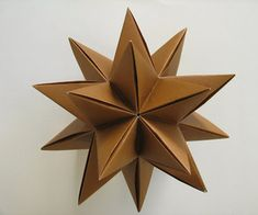 How to make an origami Modular Decorative Star Ball (3D Omega Star)!