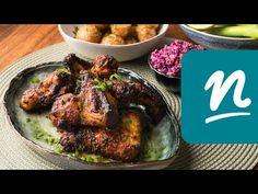 Fűszeres csirkeszárnyak Airfryerben készítve recept | Nosalty - YouTube Tandoori Chicken, Pork, Ethnic Recipes, Youtube, Kale Stir Fry, Pork Chops, Youtubers, Youtube Movies
