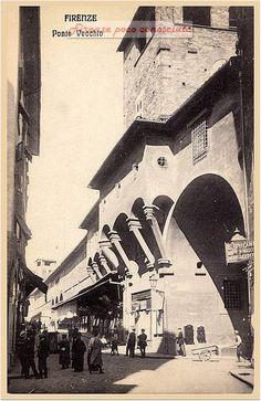 Ponte Vecchio nel 1910, un piccolo scorcio di questo ex angolo di paradiso #Firenze
