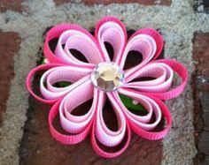 Pinza de pelo de estrella de mar rosa pinza de pelo por leilei1202