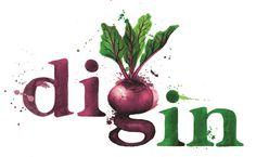 'Dig-in' Logo Design - Georgina Luck