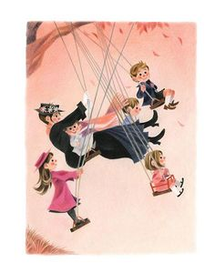 Mary Poppins Opens the Door | Art Print | Geneviève Godbout – Sur ton mur | Art Gallery | Prints, Illustrations, Decoration | Montreal