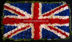Union Jack Funeral Flowers Monica F Hewitt Florist Sheffield
